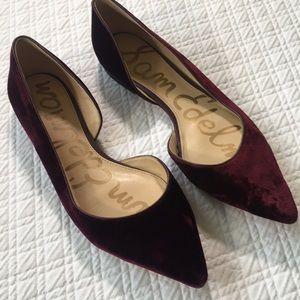Sam  Edelman Purple Velvet Pointed Flats
